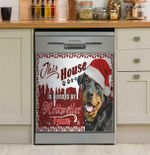 House Blessed By Paws Rottweiler Dishwasher Cover Sticker Kitchen Decor