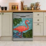 Flamingo Bahama Tropical Dishwasher Cover Sticker Kitchen Decor