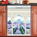 Gate To The Lavender Field Dishwasher Cover Sticker Kitchen Decoration