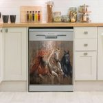 Horse Galloping Thunder Dishwasher Cover Sticker Kitchen Decor