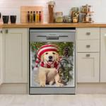 Golden Retriever Underpine Pattern Dishwasher Cover Sticker Kitchen Decor