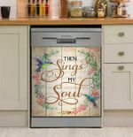 Hummingbird Then Sings My Soul Dishwasher Cover Sticker Kitchen Decor