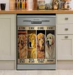 Golden Retriever Badass Dishwasher Cover Sticker Kitchen Decor