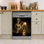 Guitar Classic Light Dishwasher Cover Sticker Kitchen Decor