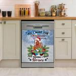 Horse Winter Snow Dishwasher Cover Sticker Kitchen Decor