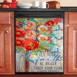 Let Your Faith Be Bigger Than Your Fear Diabetes Awareness Dishwasher Cover Sticker Kitchen Decor