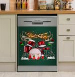 It Is Christmas Time For Drummers Dishwasher Cover Sticker Kitchen Decor
