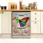 Lgbt Coming Out Butterfly Dishwasher Cover Sticker Kitchen Decor