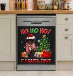 Ho Ho Ho Spanish Water Dog Dishwasher Cover Sticker Kitchen Decor