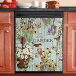 Garden Shed Pole Dishwasher Cover Sticker Kitchen Decor