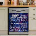 In This Class We Raise Our Hands Ask Lots Of Questions Dishwasher Cover Sticker Kitchen Decor