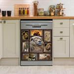 Huge Lion Dishwasher Cover Sticker Kitchen Decor