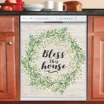 Farmhouse Wreath Dishwasher Cover Sticker Kitchen Decor