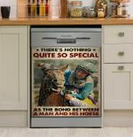 Jockey Bond Between A Man And His Horse Dishwasher Cover Sticker Kitchen Decor