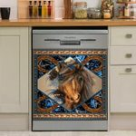 Horse Stunning Dishwasher Cover Sticker Kitchen Decor