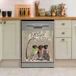 German Shorthaired Pointer Snow Scarf Pattern Dishwasher Cover Sticker Kitchen Decor