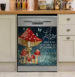 Hippie Mushroom Dance In The Rain Dishwasher Cover Sticker Kitchen Decor