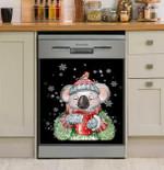 Koala Warm Winter Christmas Dishwasher Cover Sticker Kitchen Decor