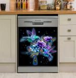 Hummingbird Magical Galaxy Flowers Dishwasher Cover Sticker Kitchen Decor