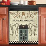 Home Prim Home Saltbox House Dishwasher Cover Sticker Kitchen Decor