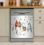Happy Times Cardinal On Branch Dishwasher Cover Sticker Kitchen Decor