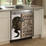 I Am Your Friend Dinosaur Dishwasher Cover Sticker Kitchen Decor