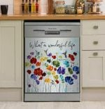 Hummingbird Wonderful Life Dishwasher Cover Sticker Kitchen Decor