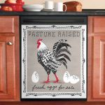 Fresh Eggs For Sale Farm Life Rooster Dishwasher Cover Sticker Kitchen Decor
