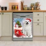 Great Pyrenees Boot Christmas Pattern Dishwasher Cover Sticker Kitchen Decor