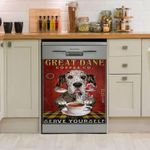 Great Dane Drink Coffee Dishwasher Cover Sticker Kitchen Decor