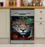 Leopard Behind Jungle Dishwasher Cover Sticker Kitchen Decor