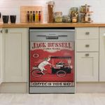 Jack Russell Terrier Coffee Home Coffee In Your Way Dishwasher Cover Sticker Kitchen Decor
