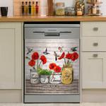 Hummingbird Today I Choose Joy Dishwasher Cover Sticker Kitchen Decor
