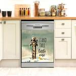 Giraffe Stand Tall Little One Dishwasher Cover Sticker Kitchen Decor