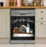I Put Out For Santa Dishwasher Cover Sticker Kitchen Decor