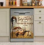 Horse Together Is My Favorite Plce To Be Dishwasher Cover Sticker Kitchen Decor