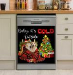 Labrador Retriever Baby It's Cold Outside Dishwasher Cover Sticker Kitchen Decor