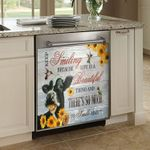 Keep Smiling Because Life Is A Beautiful Dishwasher Cover Sticker Kitchen Decor