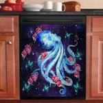 Galaxy Octopus With Butterflies Dishwasher Cover Sticker Kitchen Decor