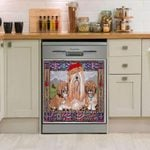 Lhasa Apso Sit With Mom Dishwasher Cover Sticker Kitchen Decor