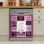 For My Mom Breast Cancer Awareness Dishwasher Cover Sticker Kitchen Decor
