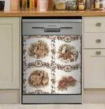Holiday Animal Forest Dishwasher Cover Sticker Kitchen Decor