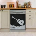 Guitar Metal Pattern Dishwasher Cover Sticker Kitchen Decor