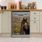 Horse Always Stay Humble And Kind Art Dishwasher Cover Sticker Kitchen Decor