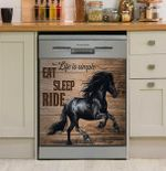 Horse Girl Life Is Simple Eat Sleep Ride Dishwasher Cover Sticker Kitchen Decor