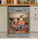 Happy Harvest Couple Dishwasher Cover Sticker Kitchen Decor