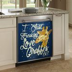 I Just Freaking Love Giraffe Ok Dishwasher Cover Sticker Kitchen Decor
