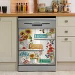 Hummingbird Home Sweet Home Dishwasher Cover Sticker Kitchen Decor