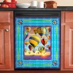 Hot Air Balloons At Sunrise Dishwasher Cover Sticker Kitchen Decor