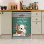 Labrador Retriever Is My Family Member Dishwasher Cover Sticker Kitchen Decor
